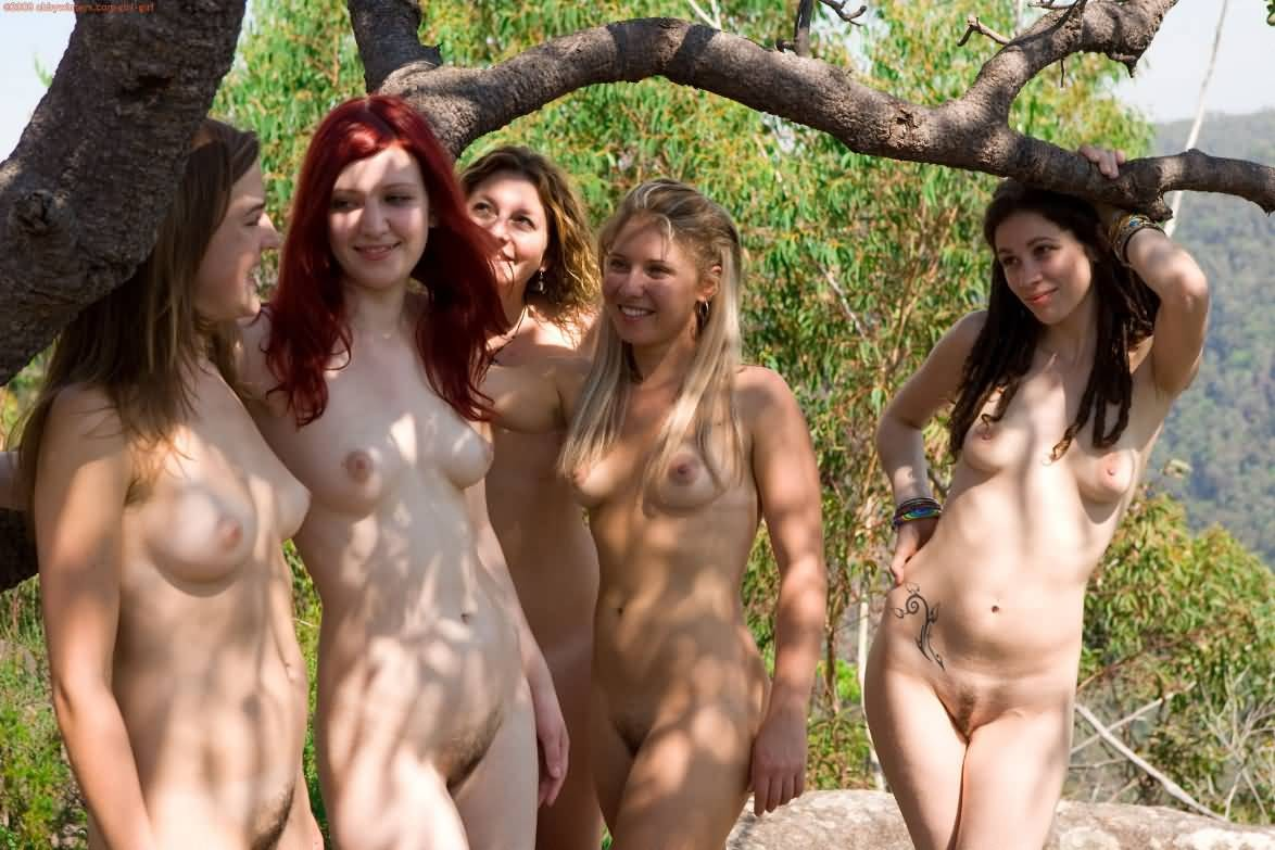 pic of Miracle and her lovely nudist girlfriends