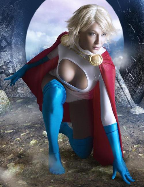 pic of Layla is a beautyful cosplay chick in tight spandex dress
