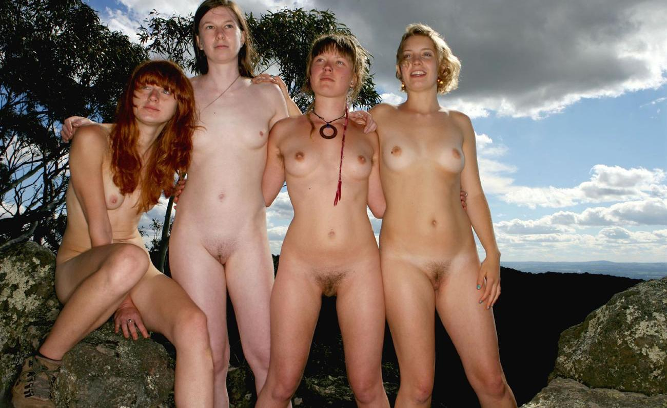 pic of Deja having fun with her nudist friends