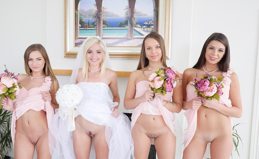 pic of Francesca flashing pantyless right before the wedding